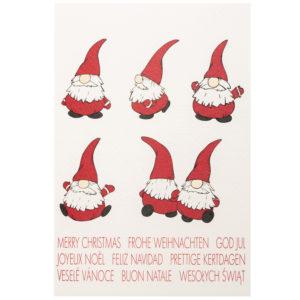 Weihnachtskarte, cremefarbener Karton, mit farbigem Druck