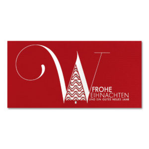 Weihnachtskarte, Laserkarte, roter Karton, Folienprägung silber, mit Stanzung