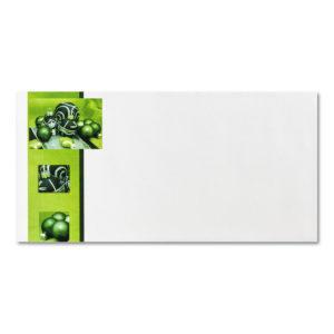 Briefumschlag ohne Fenster zu Weihnachtsbrief 96803, Christbaumkugeln