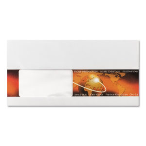 Briefumschlag mit Fenster zu Weihnachtsbrief 96804, Weltkugel