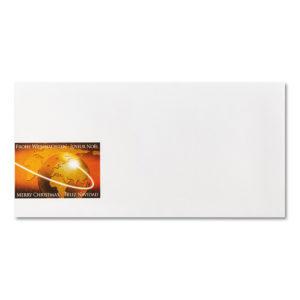 Briefumschlag ohne Fenster zu Weihnachtsbrief 96804, Weltkugel
