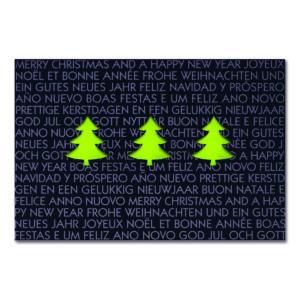 Weihnachtskarte, Laserkarte, dunkelblauer Karton, Folienprägung schwarz