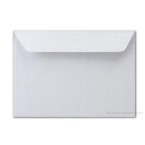 Umschlag B6, Farbe: weiß, Grammatur: 90 g/m², Haftklebung