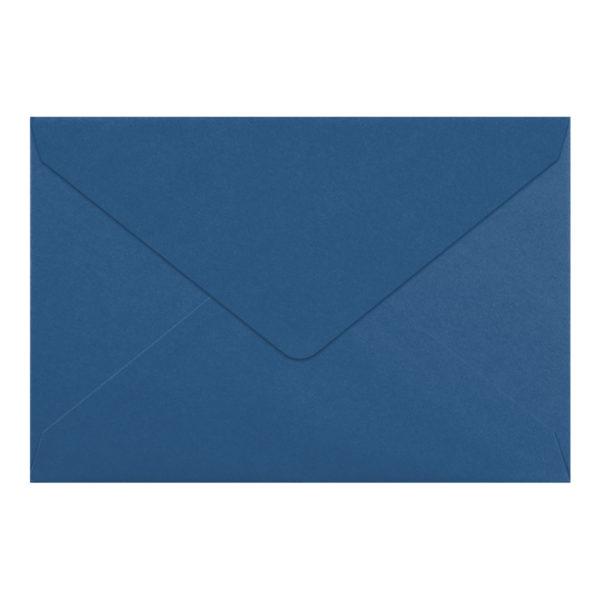 Umschlag B6, Farbe: nachtblau, Grammatur: 110 g/m², spitze Klappe, Naßklebung