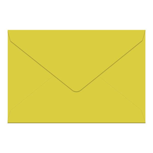 Umschlag B6, Farbe: limette, Grammatur: 110 g/m², spitze Klappe, Naßklebung