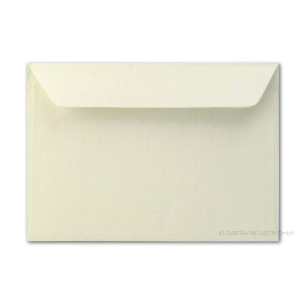Umschlag B6, Farbe: creme, Grammatur: 90 g/m², Haftklebung