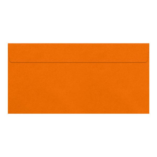 Umschlag DL, Farbe orange, mit Haftklebung, Grammatur: 110 g/m²