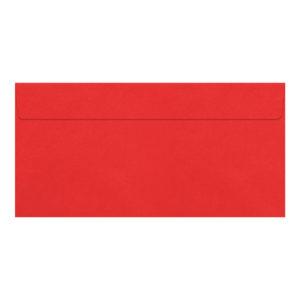 Umschlag DL, Farbe rosenrot, mit Haftklebung, Grammatur: 110 g/m²
