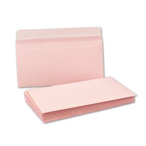 Umschlag DL, Farbe rosa, mit Haftklebung, Grammatur: 110 g/m²