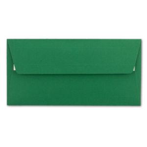 Umschlag DL, Farbedunkelgrün, mit Haftklebung, Grammatur: 110 g/m²