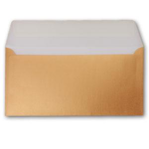Umschlag DL, Farbe: kupfer, Grammatur: 90 g/m², Haftklebung
