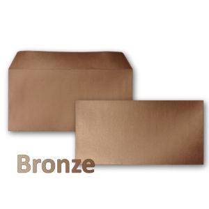 Umschlag DL, Farbe: bonze, Grammatur: 90 g/m², Haftklebung