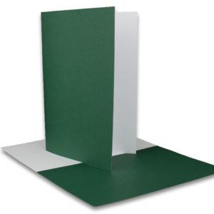 Einlegeblatt weiß, 1. Seite dunkelgrün bedruckt, Grammatur: 90/m², B6