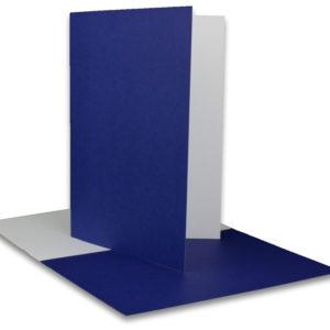 Einlegeblatt weiß, 1. Seite blau bedruckt, Grammatur: 90/m², B6
