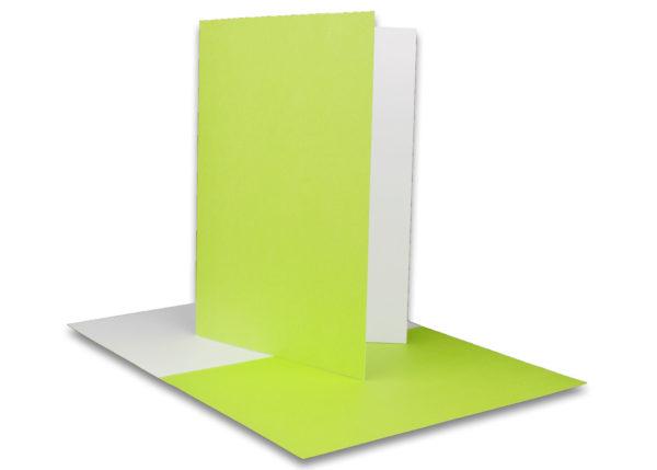 Einlegeblatt weiß, 1. Seite grün bedruckt, Grammatur: 90/m², B6