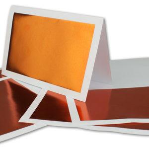 Einlegeblatt weiß, 1. Seite kupfer bedruckt, Grammatur: 90/m², B6