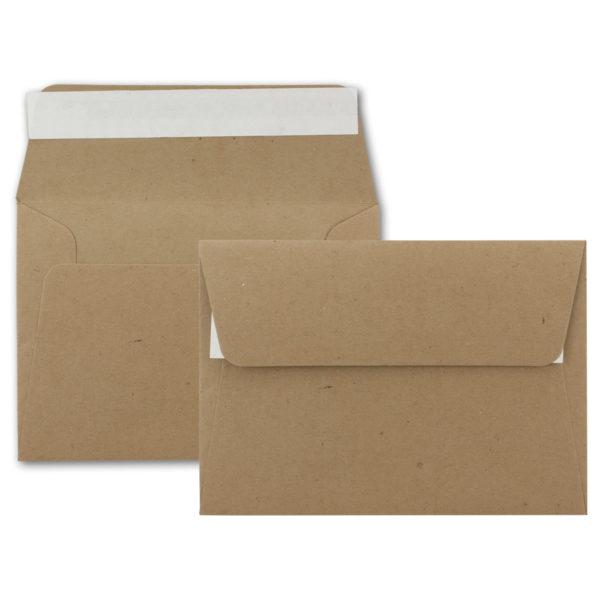 Umschlag Recycling B6, Farbe: sandbraun, Grammatur: 120 g/m², Haftklebung