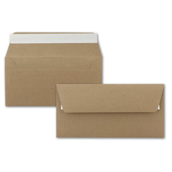 Umschlag Recycling DL, Farbe: sandbraun, Grammatur: 120 g/m², Haftklebung