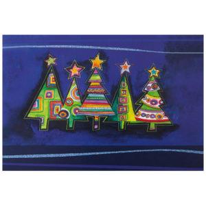 Weihnachtskarte, Offsetdruck, Motiv: NAIV, Folienprägung gold