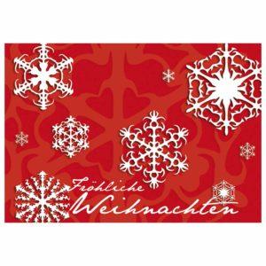 Weihnachtskarte, roter Karton ausgestanzter Stern