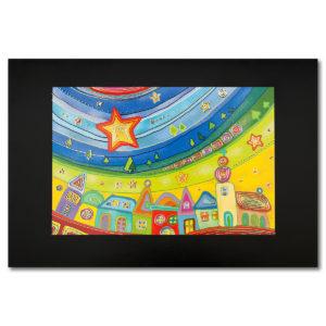 Weihnachtskarte, Offsetdruck, Motiv: NAIV, Folienprägung gold, Spendenkarte Care