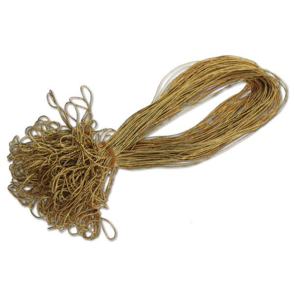 Schmuckgummiband mit Schlaufe, Farbe: gold, zum Fixieren von Einlegeblättern