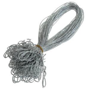 Schmuckgummiband mit Schlaufe, Farbe: silber, zum Fixieren von Einlegeblättern