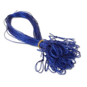 Schmuckgummiband mit Schlaufe, Farbe: blau, zum Fixieren von Einlegeblättern