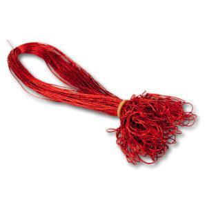 Schmuckgummiband mit Schlaufe, Farbe: rot, zum Fixieren von Einlegeblättern