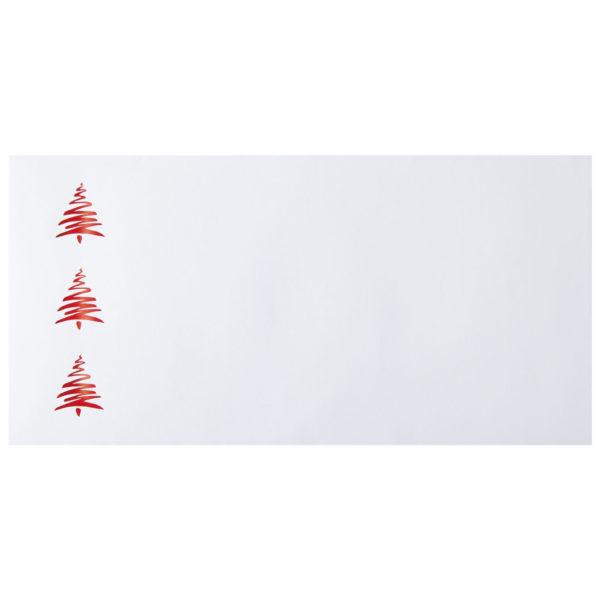 Weihnachtskarte, weißer Karton, Folienprägung transparent und rot