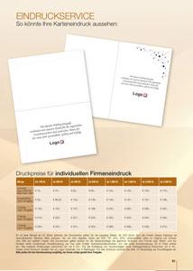 Druckpreise für individuellen Firmeneindruck