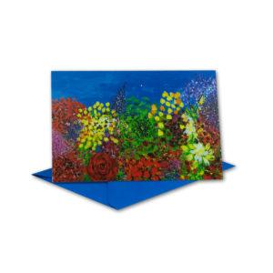 Glückwunschkarte, Aquarell Bild, Großmutters Garten