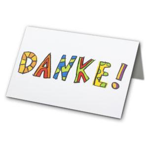 Danksagungskarte, Doppelkarte, Danke